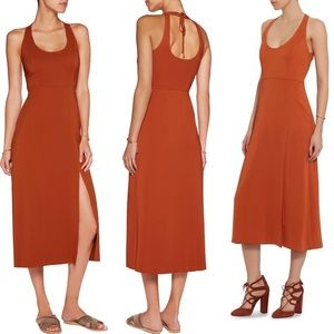 A.L.C. Leesa Scuba Tie Back Midi Dress Orange Sz 0